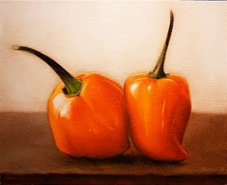 """Habanero Peppers"" original fine art by Jonathan Aller"