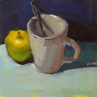 """After Lunch --- SOLD"" original fine art by Carol Marine"