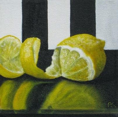 """""""Lemon Twist"""" original fine art by Pera Schillings"""