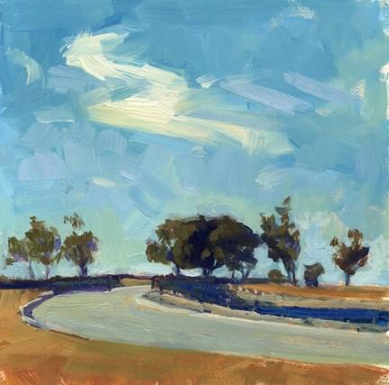 """Zig zag cloud"" original fine art by Kathy Weber"