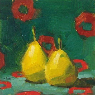"""Too Hip Pears"" original fine art by Carol Marine"