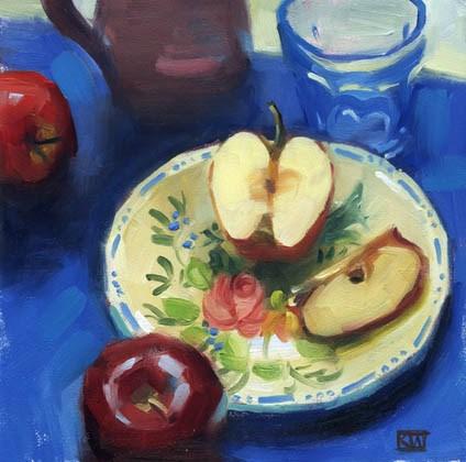 """Apples"" original fine art by Kathy Weber"