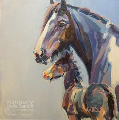 """Blue Gypsies"" original fine art by Kimberly Santini"