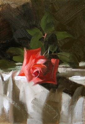 """Winter Rose --- Sold"" original fine art by Qiang Huang"