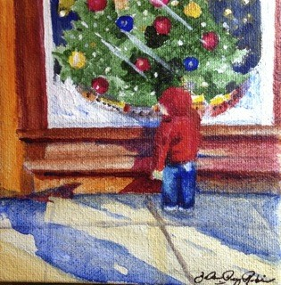 """Window Shopping"" original fine art by JoAnne Perez Robinson"
