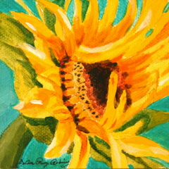 """Taylor's Sunflower"" original fine art by JoAnne Perez Robinson"