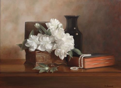 """""""A Pearl Of Great Price  #711"""" original fine art by Dee Lessard"""