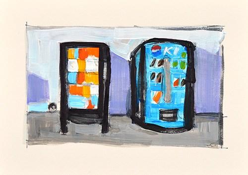 """Vending Machines"" original fine art by Kevin Inman"
