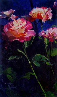 """""""A Rose Called Peace  flower oil painting, roses"""" original fine art by Robin Weiss"""