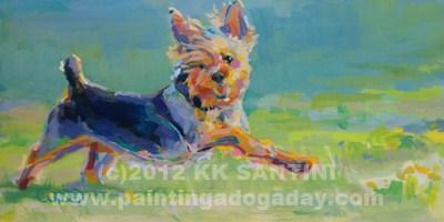 """Dandy"" original fine art by Kimberly Santini"