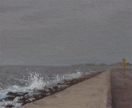"""The Malecón in the Fog, Havana (Cuba 2012 painting #1)"" original fine art by Abbey Ryan"