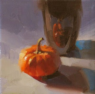 """""""Colors in October --- Sold"""" original fine art by Qiang Huang"""