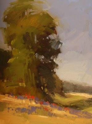 """Roadside Color"" original fine art by Laurel Daniel"