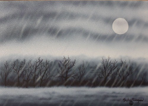 """November in the Rain"" original fine art by Fred Schollmeyer"