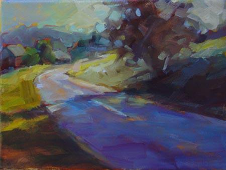 """The German Landscape"" original fine art by Karen Bruson"
