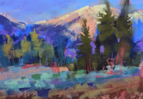 """""""Trip Report...Lake Tahoe Workshop"""" original fine art by Karen Margulis"""