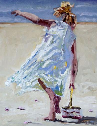 """WEDDING on the Beach PAINTING OIL DIANE WHITEHEAD FINE ART"" original fine art by Diane Whitehead"