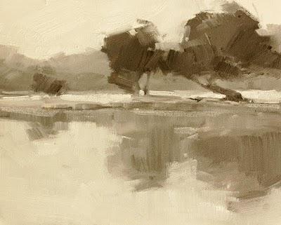 """Tree Reflections Value Study"" original fine art by Laurel Daniel"