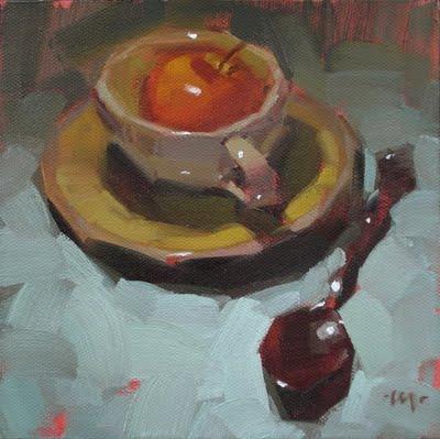 """Apple Tea"" original fine art by Carol Marine"
