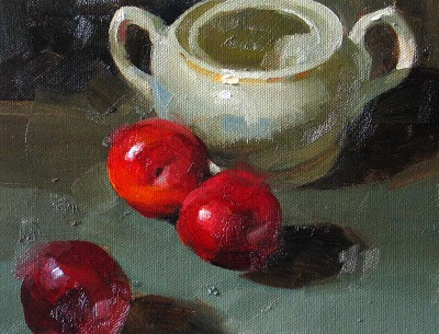 """Triple Sweet --- Click Here to Buy Now $119.99"" original fine art by Qiang Huang"