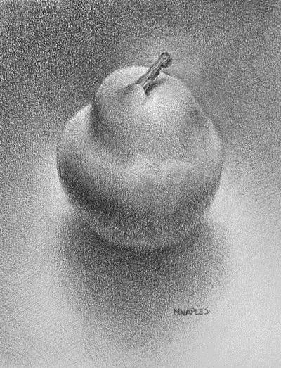 """Simple Pear (revisited)"" original fine art by Michael Naples"