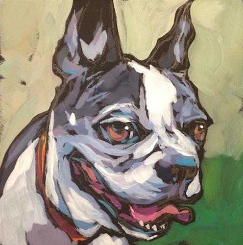 """Shasta for Dennis"" original fine art by Kat Corrigan"