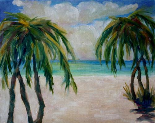 """Balmy Beach"" original fine art by Maggie Flatley"