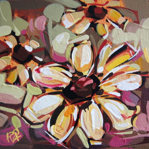 """""""Flower Abstraction 205"""" original fine art by Roger Akesson"""