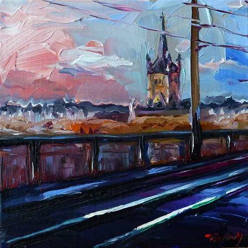 """Köln, Einfahrt"" original fine art by Jurij Frey"