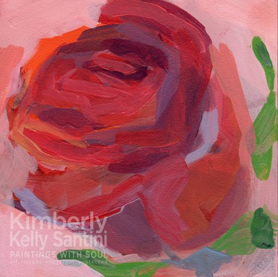 """RoseBud"" original fine art by Kimberly Santini"