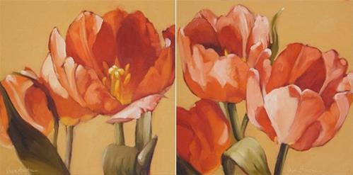 """Spring Tulips, also a winner in my give away has been chosen!"" original fine art by Diane Hoeptner"