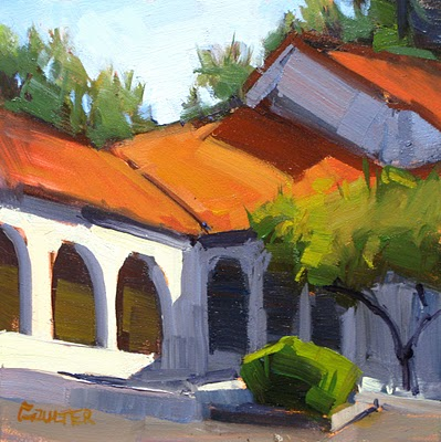 """""""HOT ROOF"""" original fine art by James Coulter"""