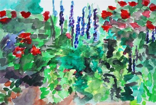 """Garden Party"" original fine art by Donna Crosby"