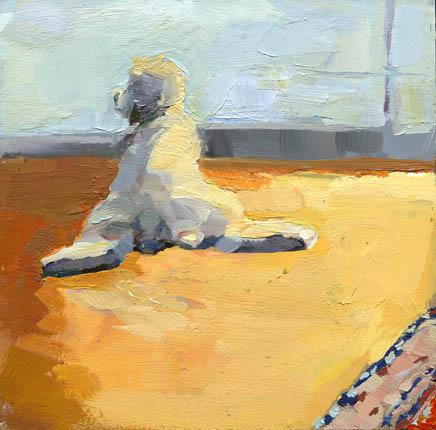 """Waiting in Platypus Position #916"" original fine art by Lisa Daria"