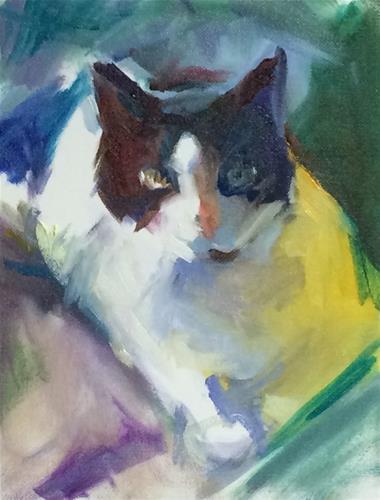 """""""Cookie Quick Study"""" original fine art by Sharon Savitz"""
