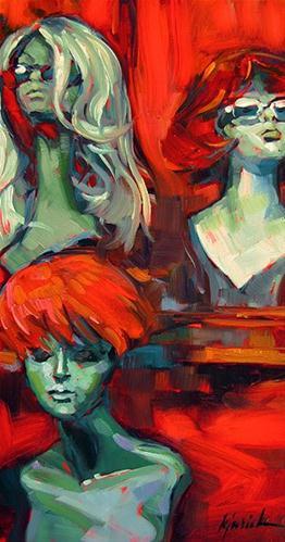 """Wiggery"" original fine art by Karin Jurick"