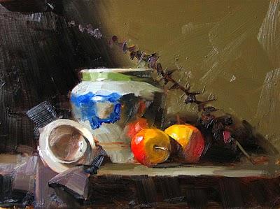 """""""Reflection"""" original fine art by Qiang Huang"""