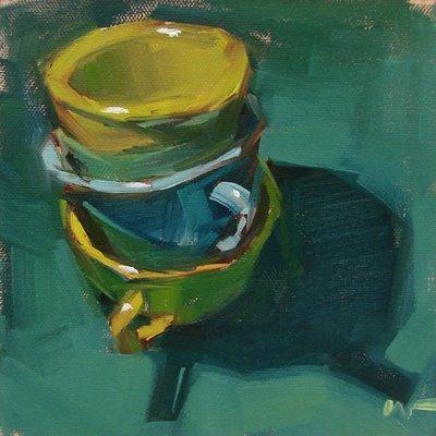 """Stacked --- SOLD"" original fine art by Carol Marine"