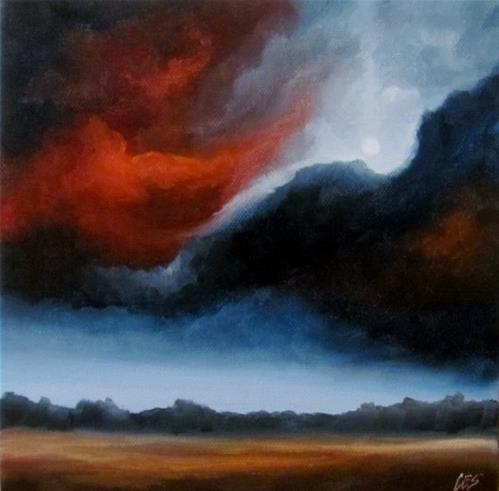 """Nocturne With Moon"" original fine art by ~ces~ Christine E. S. Code"