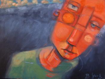 """Unhinged"" original fine art by Brenda York"