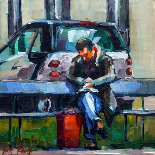 """lesend"" original fine art by Jurij Frey"