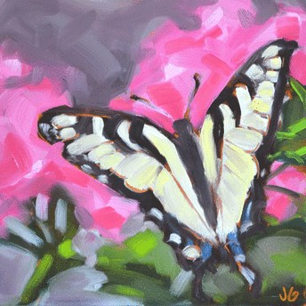 """Butterfly"" original fine art by Jessica Green"