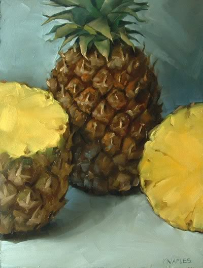 """Pineapples"" original fine art by Michael Naples"