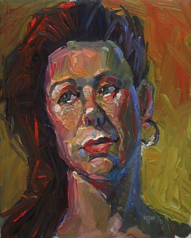 """""""Karen Without A Hat"""" original fine art by Raymond Logan"""