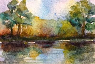 """""""Tiny Bayou #2"""" original fine art by Lyn Gill"""