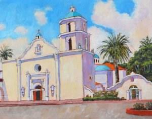 """""""Mission San Luis Rey"""" original fine art by Robert Frankis"""