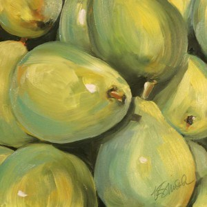 """pile of pears"" original fine art by Kim Smith"