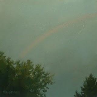 """Rainbow in the Rain"" original fine art by Michael Naples"