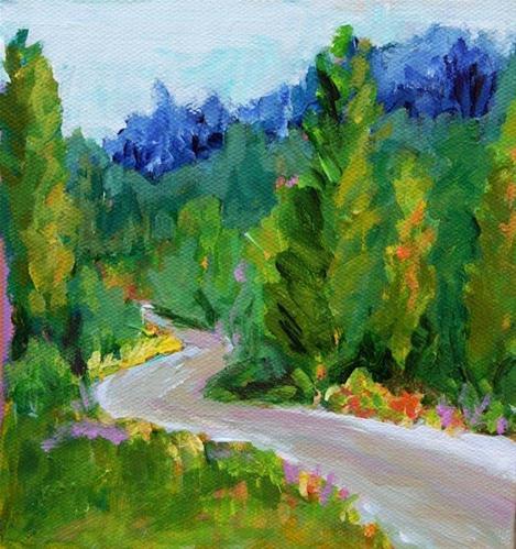 """German Landscape Challenge"" original fine art by Beth Carrington Brown"