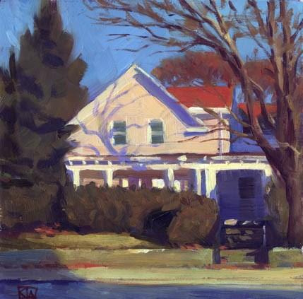"""House on Pawtucket Ave."" original fine art by Kathy Weber"